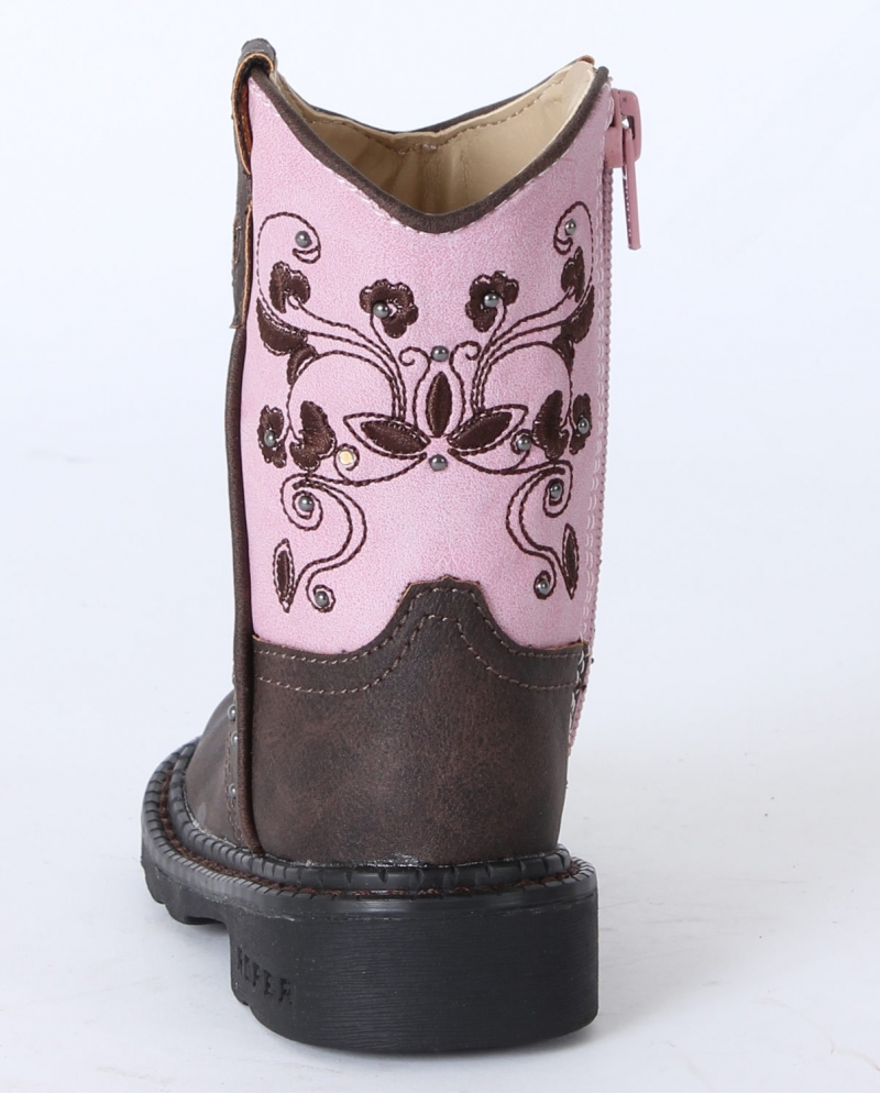 4722e18e9b1 Roper® Girls' Brown & Pink Dazzle Lights Boots - Toddler
