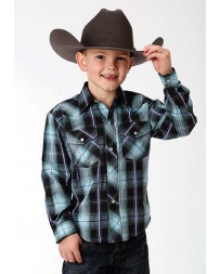 Roper® Boys' Long Sleeve Plaid Shirt