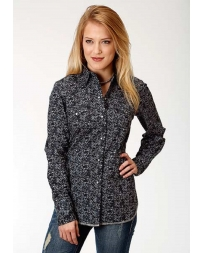 Roper® Ladies' Long Sleeve Snap Print Shirt