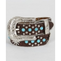 Angel Ranch® Girls' Brown & Turquoise Belt