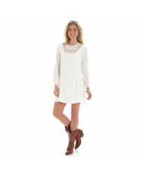 Wrangler® Ladies' Chiffon Long Sleeve Dress