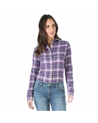 Wrangler® Ladies' Long Sleeve Flannel Top