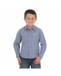 Wrangler Retro® Boys' Long Sleeve Plaid Shirt