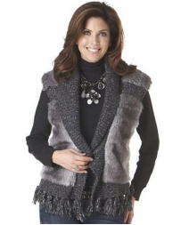 Cripple Creek® Ladies' Tassel Fur Vest