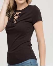 Blu Pepper Ladies' Lace Front Top