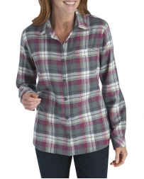 Dickies® Ladies' Flannel Plaid Shirt
