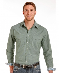 Rough Stock® by Panhandle Slim Men's Green Snap Shirt