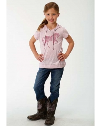 Roper® Girls' Short Sleeve Hooded Tee