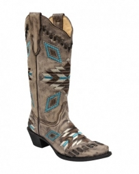 Corral Boots® Ladies' Aztec Pattern Snip Toe Boot