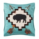 HiEnd Accents® Large Buffalo Pillow