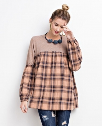 Ladies' Plaid Tunic Top