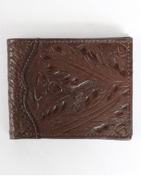 American West® Men's Tooled Leaf Bi-Fold Wallet