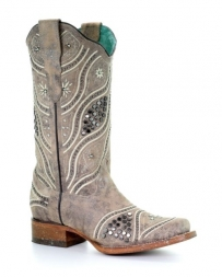 Corral Boots® Ladies' Stud Embroidered Crystal Boots