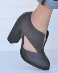 Ladies' Cut Out Heeled Bootie