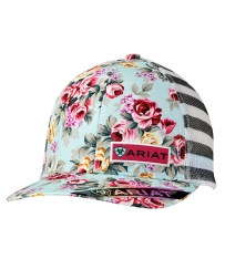 Ariat® Ladies' Floral Logo Cap