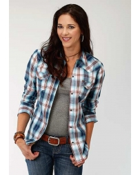 Roper® Ladies' Long Sleeve Plaid Shirt