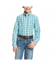 Ariat® Boys' Pro Series Long Sleeve Ellis Plaid Shirt