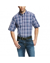 Ariat® Men's Pro Series Easton Short Sleeve Plaid Shirt - Big & Tall
