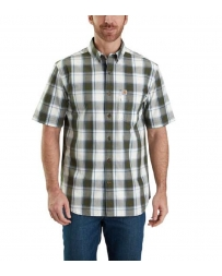 Carhartt® Men's Essential Plaid Button Down Short-Sleeve Shirt