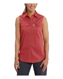 Carhartt® Ladies' Force Ridgefield Sleeveless Shirt