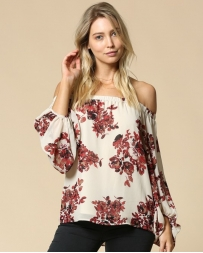 Ladies' Floral Print Off Shoulder
