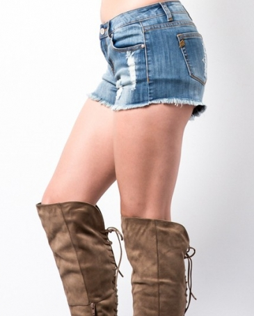 Younique® Ladies' Distressed Frayed Short