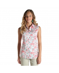 Wrangler® Ladies' Sleeveless Snap Front Top