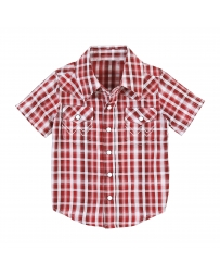 Wrangler® Boys' Infant/Toddler Short Sleeve Plaid Shirt