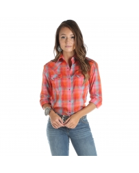 Wrangler® Ladies' Long Sleeve Plaid Shirt