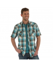 Wrangler Retro® Men's Short Sleeve Snap Plaid Shirt - Tall