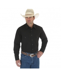 Wrangler® Men's Black Sport Western Snap Shirt - Big & Tall