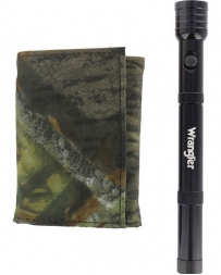 Roper® Men's Bifold Camo Wallet and Flashlight