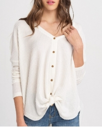 Wishlist® Ladies' V Neck Button Down Shirt