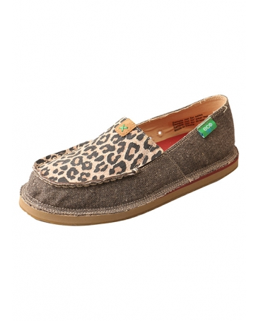 Twisted X Boots® Ladies' ECO Casual CanvasLoafer Leopard Print
