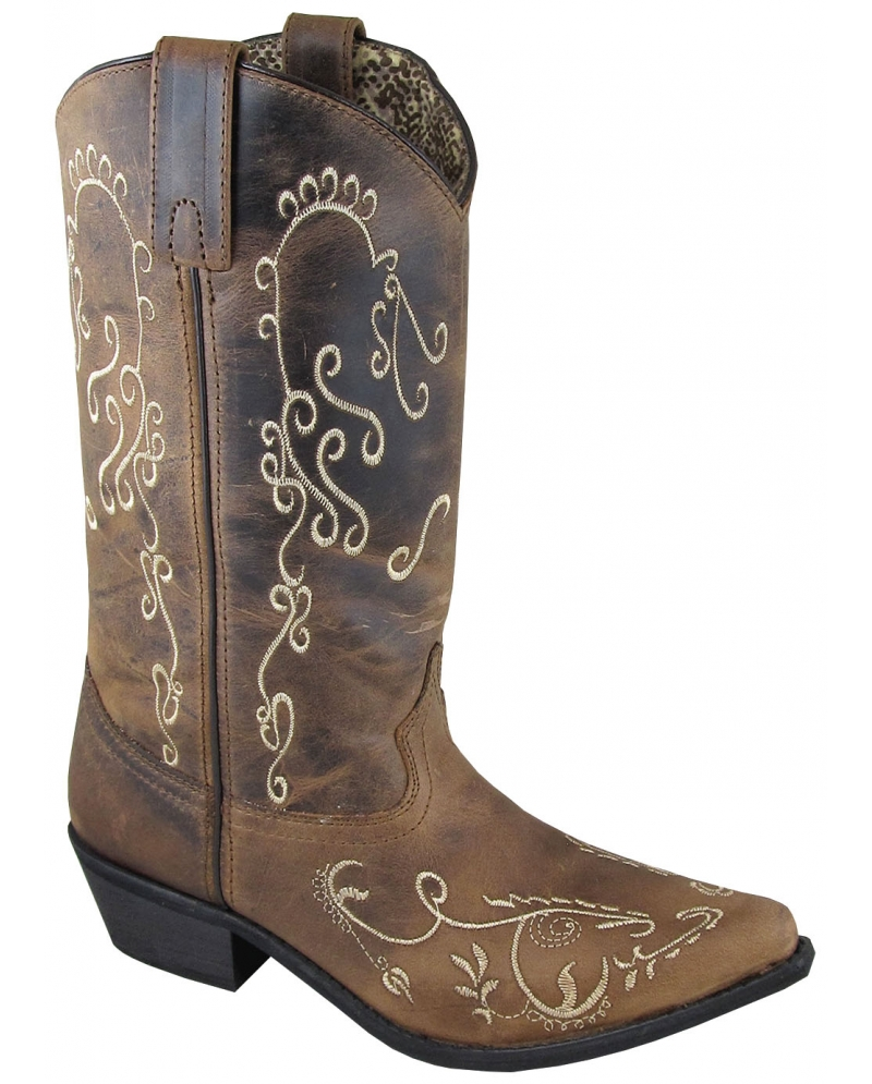Justin® Boots Ladies' Silver Blue Embroidered Cowgirl Boots