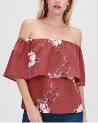 Hyfve® Ladies' Floral Off Shoulder Top