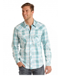Rock & Roll Cowboy® Men's Long Sleeve Plaid Shirt