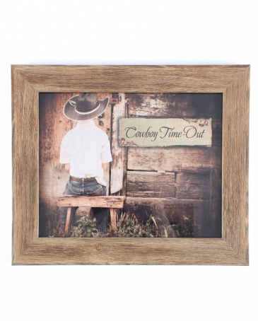 """Cowboy Time Out"" Wall Decor"