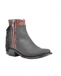 Corral Boots® Ladies' Black Zipper Round Toe