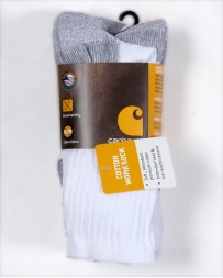 Carhartt® Men's Crew Work Socks 3 Pack