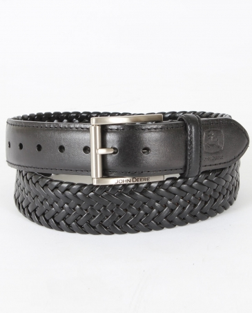 John Deere© Men's Braided Comfort Stretch Belt