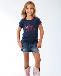 Roper® Girls' Scoop Neck Lucky Charm Tee