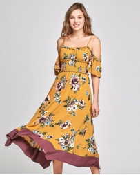 ODDI® Ladies' Open Shoulder Floral Maxi