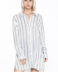 Ladies' Stripe Drawstring Dress
