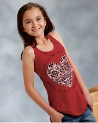 Roper® Girls' Wild Heart Tank