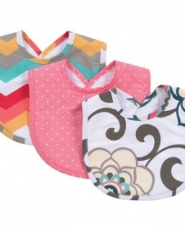 Girls' Pom Pom 3 Pack Bib