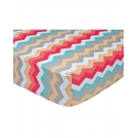 Girls' Pom Pom Chevron Crib Sheet