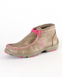 Twisted X Boots® Kids' Pink Ribbon Driving Mocs