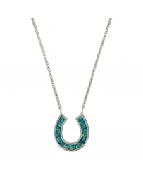 Montana Silversmiths® River of Lights Lucky Water Horseshoe Necklace