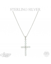 Montana Silversmiths® Sterling Lane Centered Faith Cross Necklace